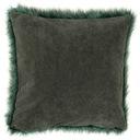 Poduszka dekoracyjna Włochacz 40x40 zielony suwak Marka MD