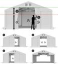 4x6m Namiot ogrodowy wzmocniony imprezowy zimowy Liczba ścianek bocznych 6