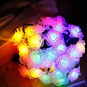 Girlandy Lampki Rose Ogrodowe Solarne 30 LED 6.5m Barwa światła mieszana