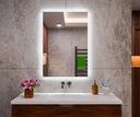Lustro łazienkowe podświetlane 50x60 LED TUNISIA Wykonanie gotowe