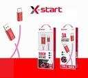 Kabel USB Typ-C 100 cm 3A SJX-192 X-start Czerwony