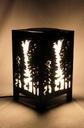Lampa Witraż Las Natura Drzewa Czerwony Kapturek Wysokość 34 cm