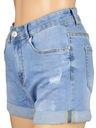 Hot pants damskie szorty spodenki jeans denim L