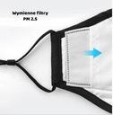 KOMPLET Maska+ 3x FILTR HEPA PM2.5 WĘGIEL FFP2 N95 Materiał bawełna