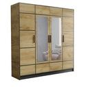 Шкаф четырехдверный гардероб с зеркалом DIOR 207