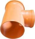 TRÓJNIK 250/200/90 POMARAŃCZOWY Materiał wykonania PCW PVC