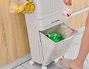 Domowy KOSZ DO SEGREGACJI ŚMIECI ODPADÓW POJEMNY + Materiał plastik