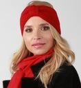 Czerwona opaska dzianinowa na uszy O4 EAN 5903624731372