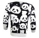 Bluza bez kaptura z motywem pandy biała r.XL Płeć Produkt męski