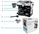 Ekspres do kawy CIŚNIENIOWY PRZELEWOWY Yoer 1850W Ciśnienie 15 bar