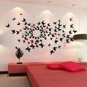 MOTYLE naklejki 3D na ścianę JEDNOKOLOROWE +GRATIS Długość 11 cm