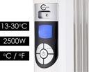 GRZEJNIK ELEKTRYCZNY OLEJOWY Łazienkowy 2500W LCD Kolor biały