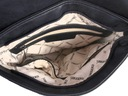 MONNARI torebka LISTONOSZKA pikowana CZARNA Wielkość mała (nie mieszcząca A4)