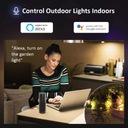 Reflektor zewnętrzny oświetlenie domu RGB LED WIFI Moc znamionowa 20 W