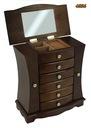 Szkatułka komoda kuferek na biżuterię brązowa 29cm Materiał drewno