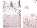 Pościel satyna bawełniana 160x200 Bielbaw Flowers Kolor beżowy biały odcienie szarości