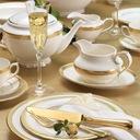 VILLA ITALIA RARITA GOLD Serwis obiadowy na 12 os Kształt Okrągły