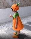 STRÓJ DYNIA HALLOWEEN WITAMINY JESIEŃ+CZAPKA 122CM Kolor dominujący pomarańczowy