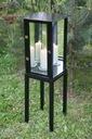 Lampion ogrodowy lustrzany narożny czarny