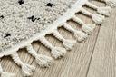 Dywan BOHO shaggy koło 120 KROPKI frędzle #GR3846 Szerokość 120 cm