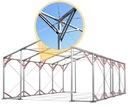 4x6m Namiot ogrodowy ocynkowany cateringowy mocny Średnica rurek - ściany 50 mm