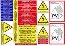 NOWE wymogi naklejki elektryczne FOTOWOLTAIKA PV