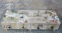 komódka z 4 szufladkami -Ptaki w kwiatach Wysokość 13 cm