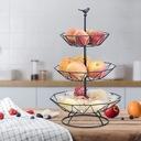 Trzypoziomowy kosz owoców w stylu nordyckim Waga produktu z opakowaniem jednostkowym 1.3 kg