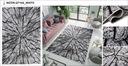 DYWAN 120x170 BCF LUXURY MIĘKKI NOWOCZESNE WZORY Kolor biały odcienie szarości czarny wielokolorowy