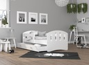 Łóżko HAPPY 160x80 + szuflada + materac Bohater brak