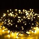Lampki BIAŁE CIEPŁE 100 LED ŚWIĘTA ŚWIĄTECZNE Długość sznura 6.7 m