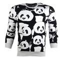 Bluza bez kaptura z motywem pandy biała r.XL