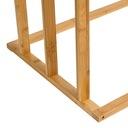 WIESZAK STOJAK ŁAZIENKOWY NA RĘCZNIKI BAMBUSOWY Materiał wykonania bambus
