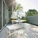 Zestaw Mebli Ogrodowych Balkonowych Stolik 3 w 1 Kolor dominujący biały