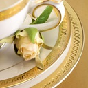 VILLA ITALIA RARITA GOLD Serwis obiadowy na 12 os Informacje dodatkowe możliwość mycia w zmywarce