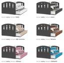 Łóżko HAPPY 160x80 + szuflada + materac Kolekcja HAPPY