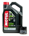 Olej silnikowy MOTUL 5100 10W40 4L + filtr oleju