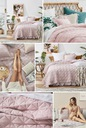 Narzuta Na Łóżko Havana 220x240 Falbana KOLORY Kolor biały odcienie różowego odcienie szarości