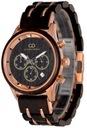 Zegarek męski drewniany Giacomo Design GD481 NEW! Funkcje Chronograf Datownik Wodoszczelny