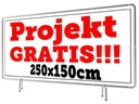Baner Reklamowy Wzory 250x150cm - Projekt Gratis