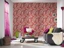 Tapeta winylowa róże kwiaty tapety na ścianę Gama kolorystyczna Odcienie czerwieni Odcienie różu Odcienie zieleni