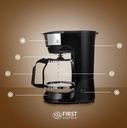 Ekspres do kawy przelewowy DUŻY XL FIRST AUSTRIA Szerokość produktu 17 cm