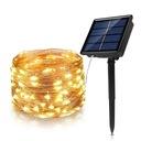 100 LED Drucik Solarny Lampki Dekoracja Ogród 10M