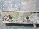 komódka z 4 szufladkami -Ptaki w kwiatach Głębokość 20 cm