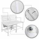 Zestaw Mebli Ogrodowych Balkonowych Stolik 3 w 1 Zawartość zestawu ławka puf stół