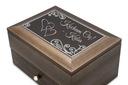 Drewniana szkatułka na Biżuterię z GRAWEREM XXL Rodzaj do przechowywania biżuterii