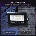 Reflektor zewnętrzny oświetlenie domu RGB LED WIFI Temperatura barwowa 1200 K
