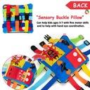 Montessori zabawka - poduszka z klamerkami Płeć Chłopcy Dziewczynki