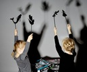 Teatrzyk cieni - edukacyjna zabawa dla dzieci Materiał Karton Plastik
