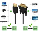 KABEL DVI - HDMI 2 metry M/M FULL HD Kod producenta ELTEDE v0.5